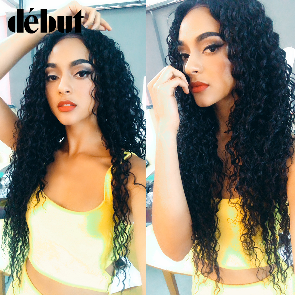 Ali Debut Deep Wave Bundles With Closure Brazilian Hair Weave Bundles Tissage Bresiliens Avec Closure Brazilian Virgin Hair