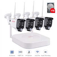 Tonton Drahtlose CCTV System 1080P 2MP 8CH NVR Audio Record PIR Sensor IP Kamera WIFI CCTV Sicherheit kamera Video überwachung Kit