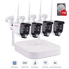 とんとんワイヤレス CCTV システム 1080 1080P 2MP 8CH NVR オーディオ記録 PIR センサー IP カメラの Wifi Cctv セキュリティカメラビデオ監視キット