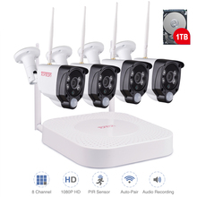 Tonton Wireless CCTV System 1080P 2MP 8CH NVR Audio Record PIR Sensor IP Camera WIFI CCTV Security camera Video Surveillance Kit jennov 8ch wifi cctv video surveillance kit wireless security camera system cctv system 1080p 2mp hd nvr app eseecloud ip cam