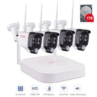 Tonton Wireless CCTV System 1080P 2MP 8CH NVR Audio Record PIR Sensor IP Camera WIFI CCTV Security camera Video Surveillance Kit