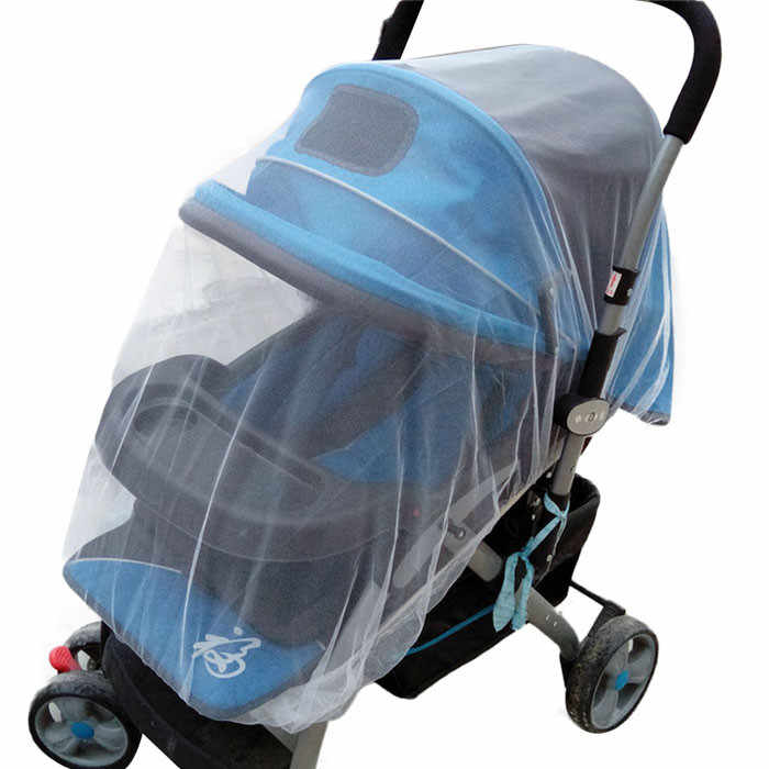 Brand New Newborn Toddler Infant Baby Stroller Crip Netting Pushchair Mosquito Insect Net Safe Mesh Buggy White,