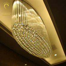 Oval crystal lamp living room dining room porch led aisle hallway corridor lamps hotel lobby crystal ceiling lamp LED lamps(China)