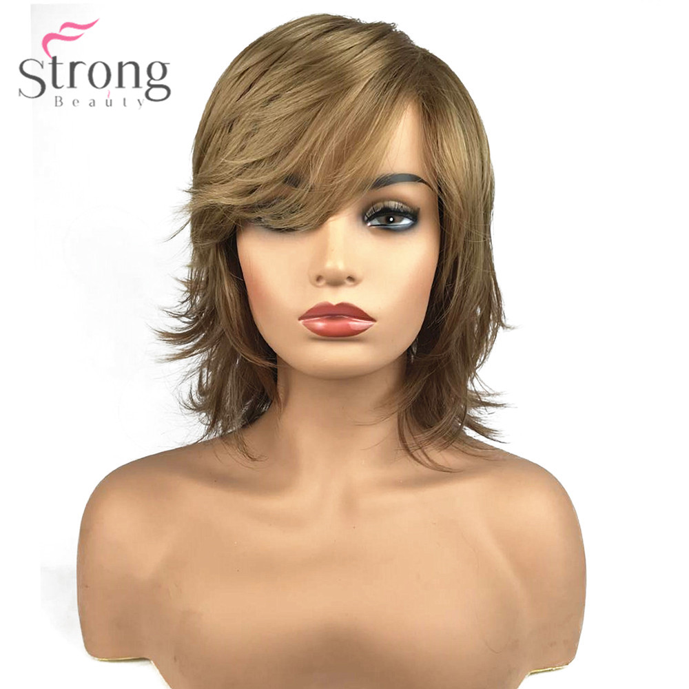 Strongbeauty Womens Synthetic Capless Wig Natural Hair Blonde