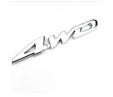 New Car stickers Metal Chrome 4WD Displacement Emblem Badge All Wheel Drive Car styling decals For Ford Toyota VW and so on dz