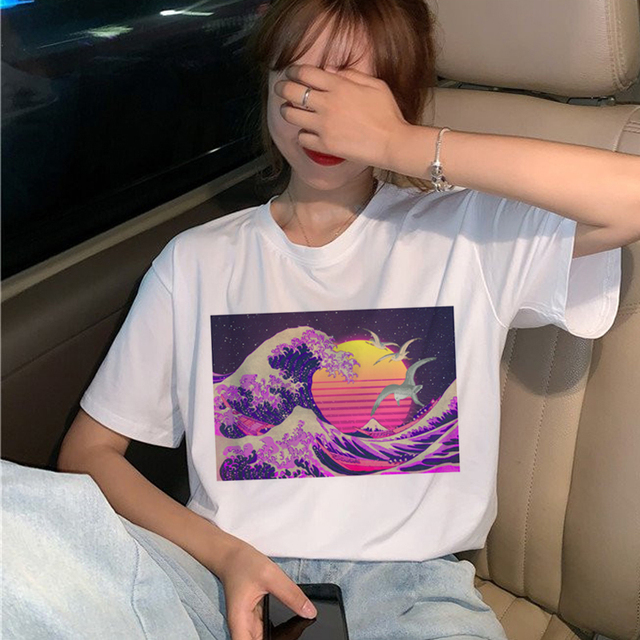 Vaporwave T Shirt Women...