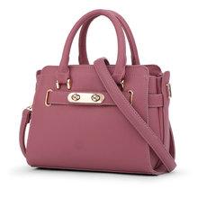 New 2017 Women Leather Shoulder Bag Shell Bags Casual Handbags Pink Messenger Bag SMYYG-A0114