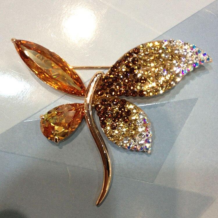 States Air Star Magazine explosion jaune zircon Zircon broche bijoux pour femmes en gros cadeaux spécialement sélectionnés
