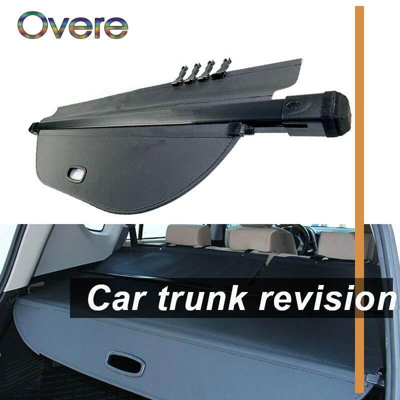 Overe 1 Set couverture de coffre arrière de voiture pour Subaru Outback 2010 2011 2012 2013 2014 noir bouclier de sécurité ombre accessoires Auto