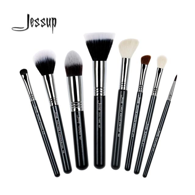 Jessup 8Pcs Pro Makeup Brush Set Kabuki Foundation Blend Duo Fibre Contour Shader Powder Eyeliner Make Up Brushes Tool T120