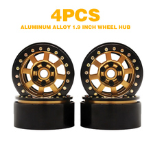 4pcs/set 1.9'' Aluminum Alloy RC Car Wheel Rims For 1/10 RC Crawler Axial SCX10 II D90 rc car aluminum alloy 3 in 1 camber gauge set up tool chassis suspension wheel camber ride height 1 8 1 10 rc car blue