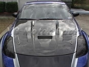 Car Accessories Carbon Fiber VSD Ver.III Style Hood Bonnet Fit For 2002-2005 350Z Z33 Hood Cover