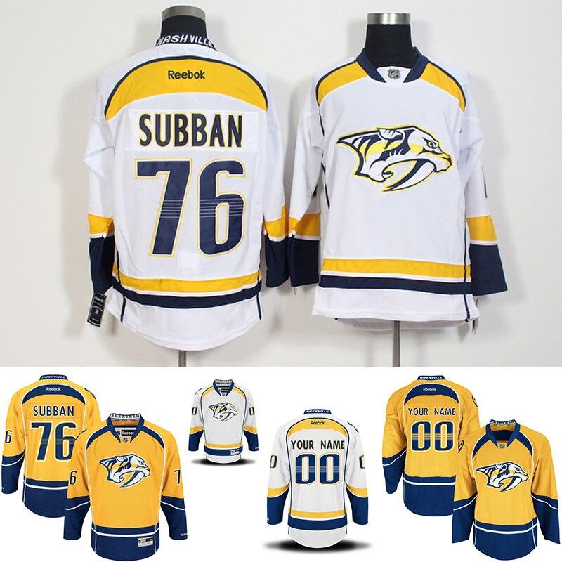 ... Customized Nashville Predators hockey jerseys 100% stitched Mens 76 PK  Subban Premier Away Custom Jersey ... 0997e65a4