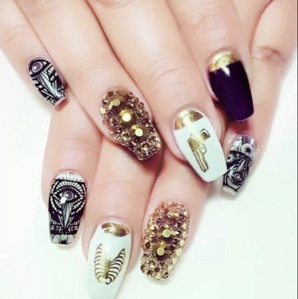 Gold Str Nail Art Jewelry Crystal Rhinestone Design Rhinestones For Nails Nailart Manicure Decoration Ongle Mjz1002 Aliexpress Mobile