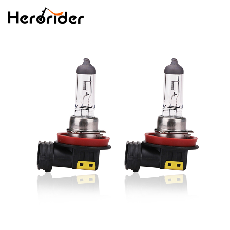 2pcs <font><b>H8</b></font> 55W <font><b>Halogen</b></font> Lamp 4300K Car Fog Lamp 12V <font><b>White</b></font> Light <font><b>H8</b></font> <font><b>Halogen</b></font> Headlights Bulb <font><b>H8</b></font> Car Head Light image