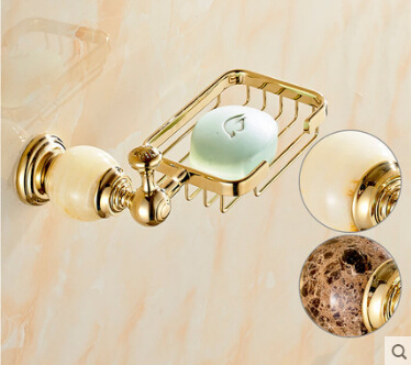 Creative Jade & Brass Wall Mounted Golden Bathroom Kitchen Soap Dish Brass Beautiful Soap Dish Holder Creative Bathroom Shelf house beautiful 500 bathroom ideas
