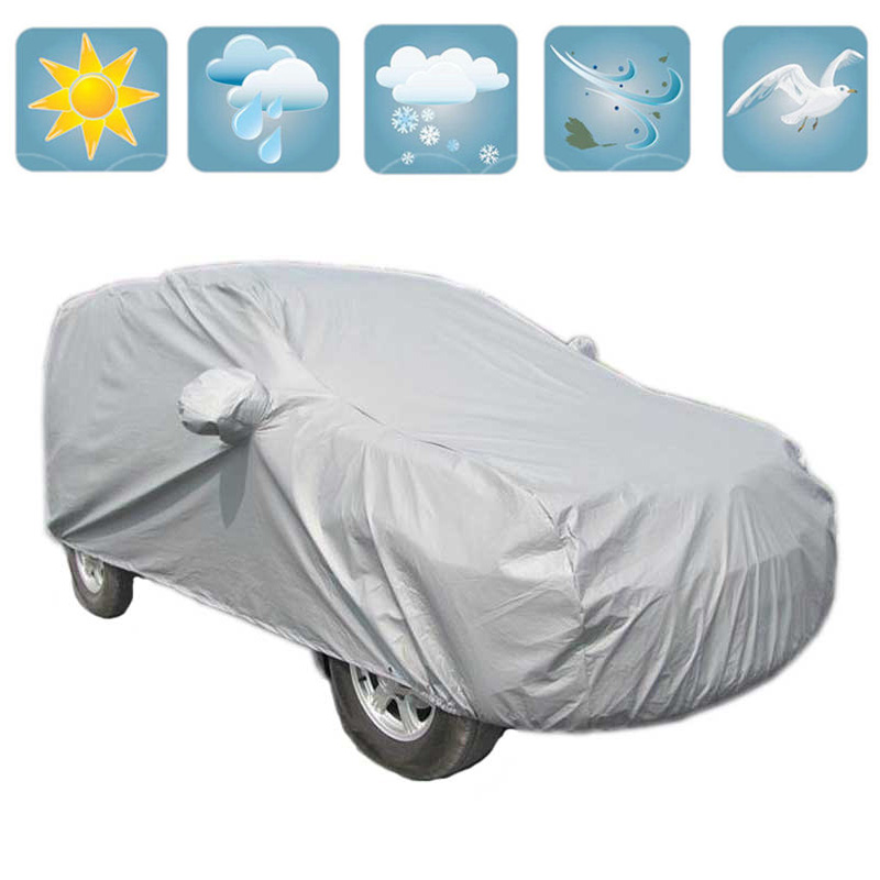 Universal SUV Car Covers Outdoor Sunshade Waterproof Dustproof Anti UV Scratch Resistant Snow Cover font b