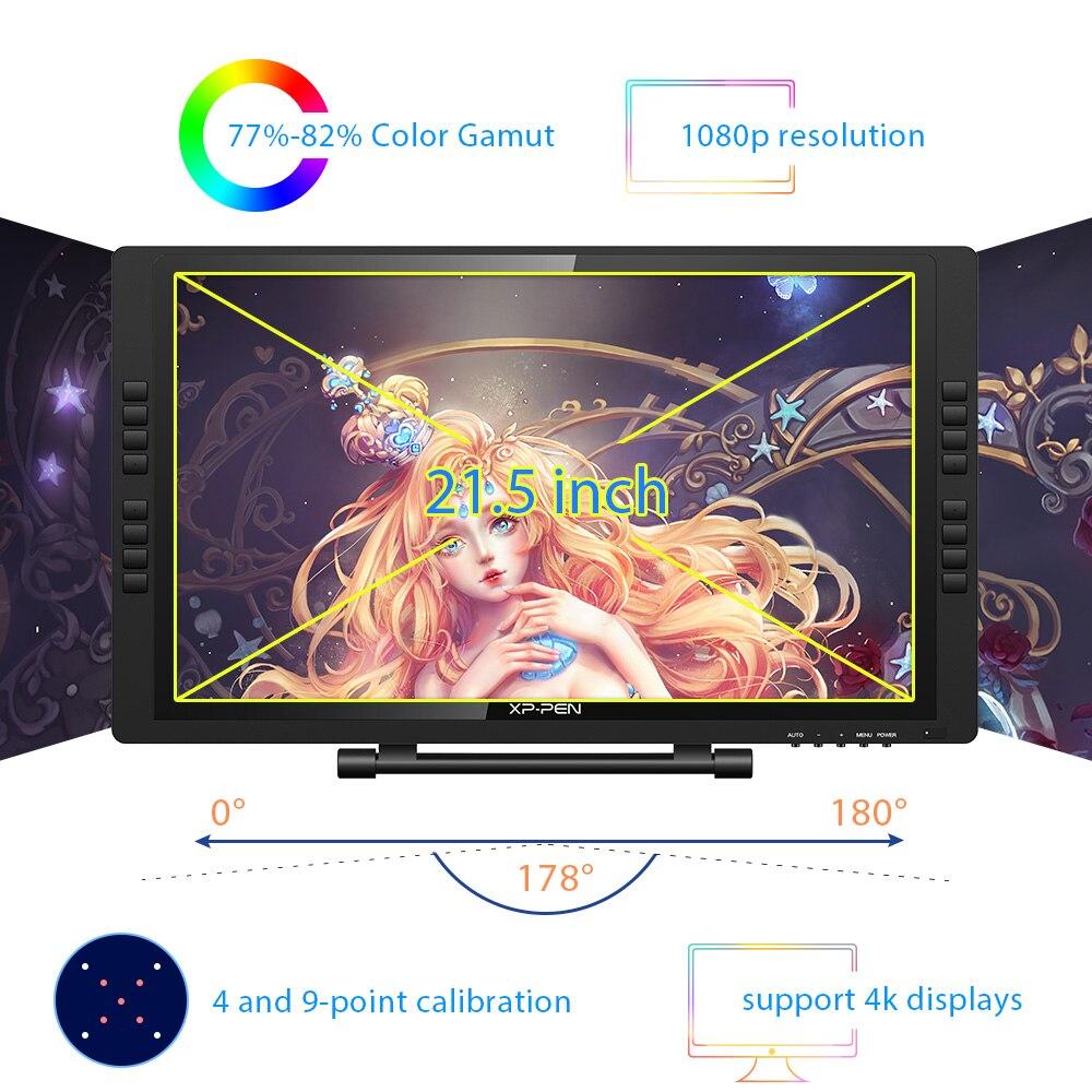 XP-Pen Artist 22EPro tablette graphique dessin tablette moniteur numérique avec touches de raccourci et support réglable 8192 - 2