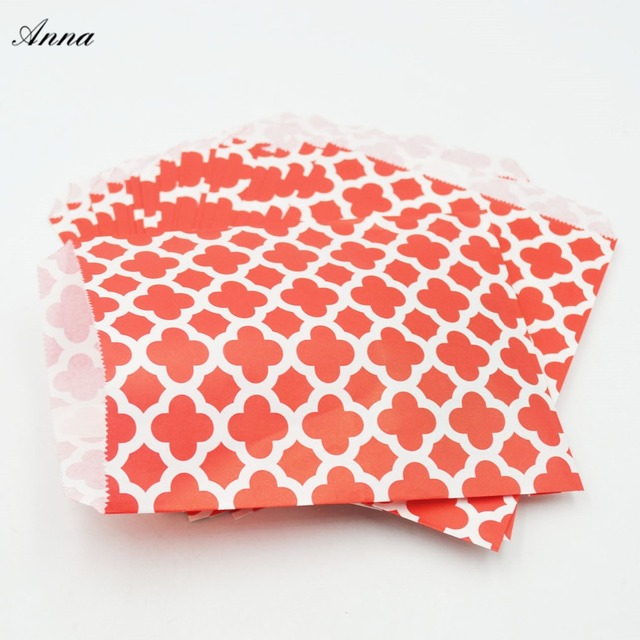 25pcs Kraft Paper Candy bag holder Popcorn Bag For Wedding ...