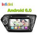 Quad core Android 6.0 Car dvd gps player for Kia rio k2 2010 2011 2012 in dash dashboard 2 din car radio video player k2 rio dvd