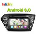 Quad core Android 6.0 jugador Del Coche dvd gps para Kia rio k2 2010 2011 2012 en el tablero 2 din car radio reproductor de vídeo k2 rio dvd