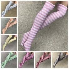 1 пара 1/6 полосатые носки для кукол Blyth для 1/6, носки для кукол, аксессуары для одежды(fit Azone, Kurhn, OB, Momoko, Barbies, Blyth, 1/6 Doll