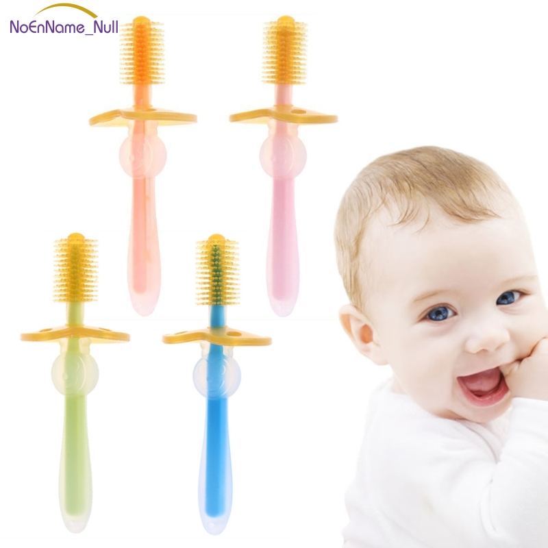 High Quality Baby Toothbrush Soft Silicone 360 Degree Brush Safe Guard Training Teeth Infants #330