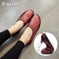 Soft Leather Cowhide Summer Shoes Women Shoes Ballerina Durable Flat Shoes Women Solid Color Temperament New Arrival Buckle