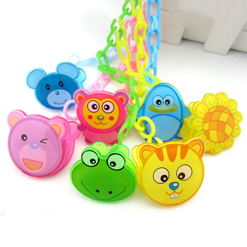 Baby Cute Chain Soothers Clip Holder Feeding Product Animal Cartoon Pacifier Anti Lost Infant