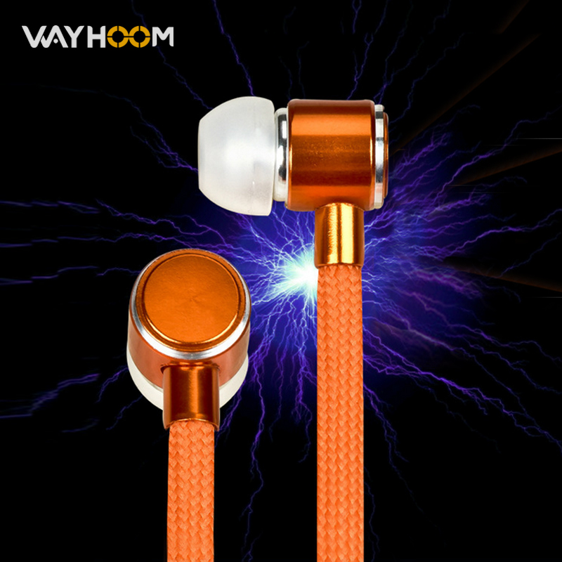 Shoelace Stereo Earphone for Mobile phone High Quality Metal Bass In-ear With Microphone Sport Headset Music Earpieces stereo 3 5mm in ear earphones high quality metal bass headset with microphone for mobile phone iphone xiaomi huawei