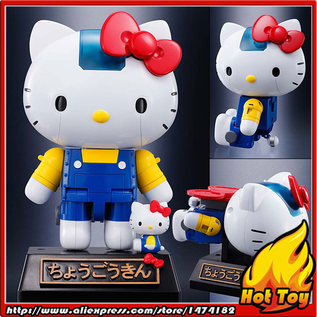 цена на 100% Original BANDAI Tamashii Nations Chogokin Action Figure - Hello Kitty (Blue) from