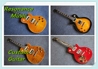 100 Real Pictures Yellow Flame Finish LP Standard Electric Guitar Slash Appetite In Stock For Sale