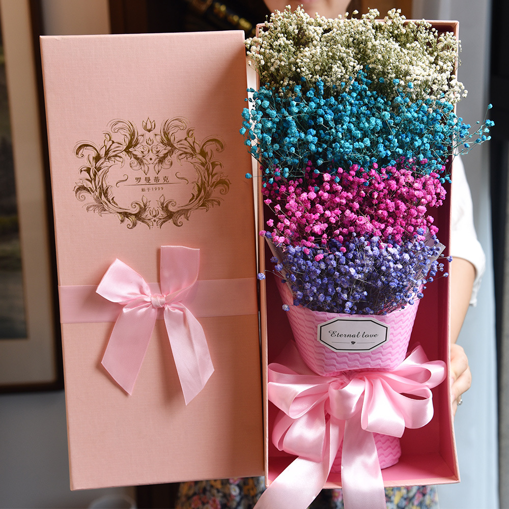 Eternal Angel babysbreath bouquet with gift box Valentine\'s Day gift ...