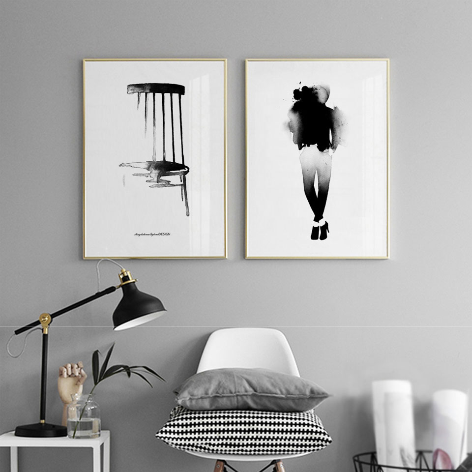 Affiche Scandinave Home 5 09 25 De Réduction Michael Jackson Aquarelle Affiche Imprimer Scandinave Toile Peinture Noir Blanc Mur Photo Nordique Art Home Decor No Frame
