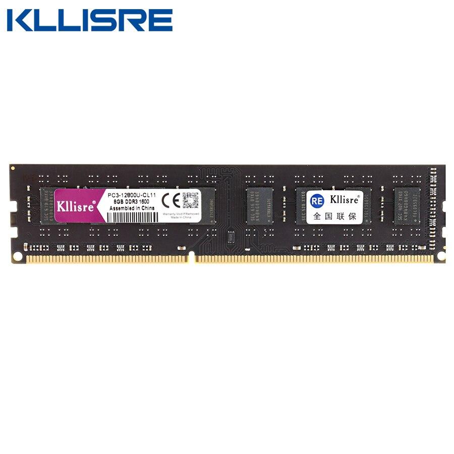 Kllisre Ram DDR3 4GB 8GB 2GB 1333 1600MHz memoria Desktop Geheugen met Koellichaam 240pin 1.5V Nieuwe dimm