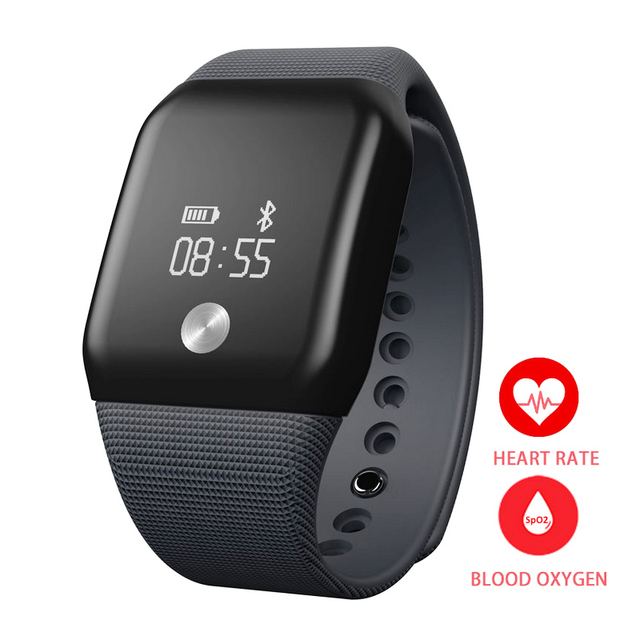 High Tech Smart wrist Band Heart rate Pedometer Oxygen Oximeter Sport Bracelet Alarm clock Watch For iOS Android Alarm