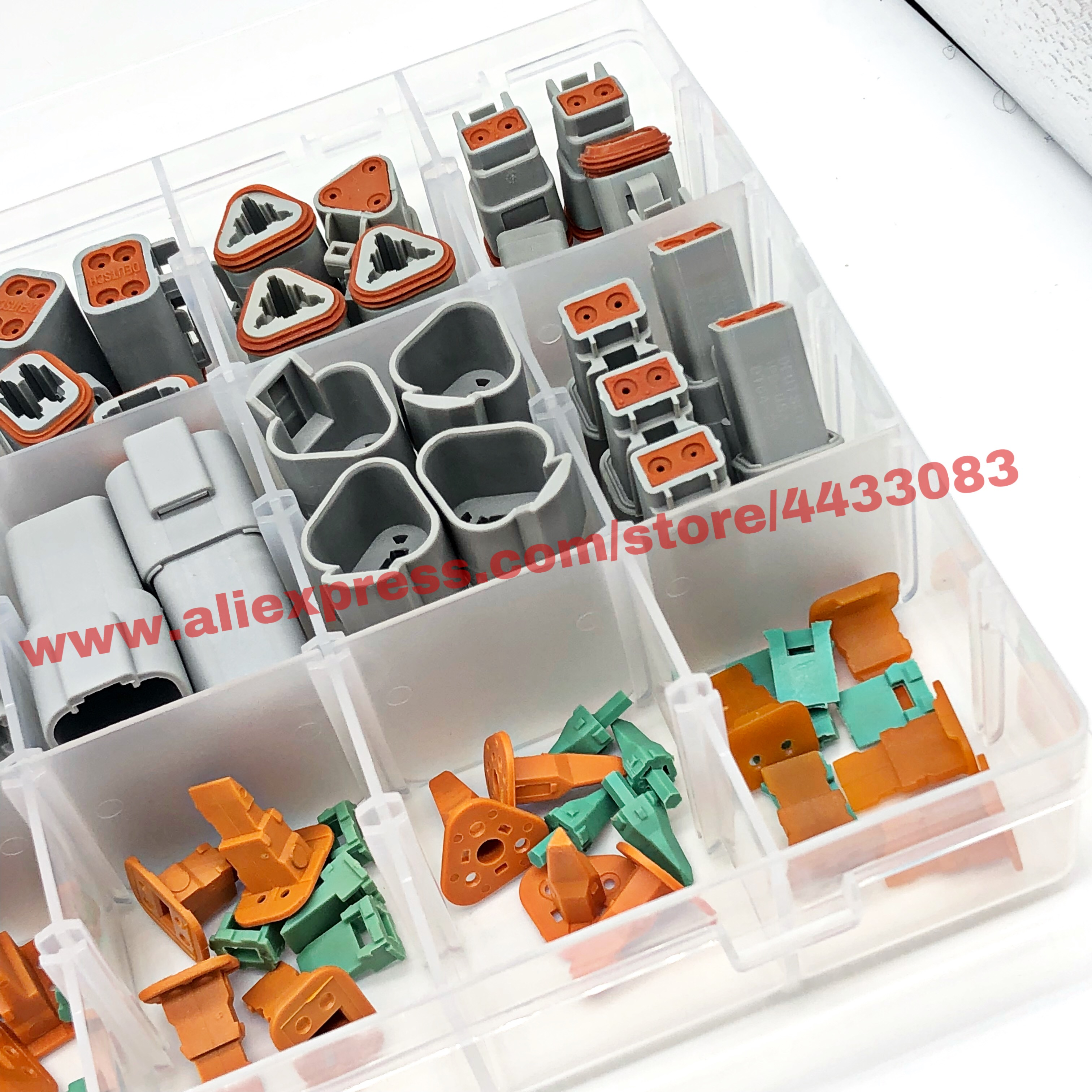 Image 4 - 225pcs Deutsch DT automotive connectors kit + 16 18AWG Crimp Terminals + removal tool 0411 336 1605-in Connectors from Lights & Lighting
