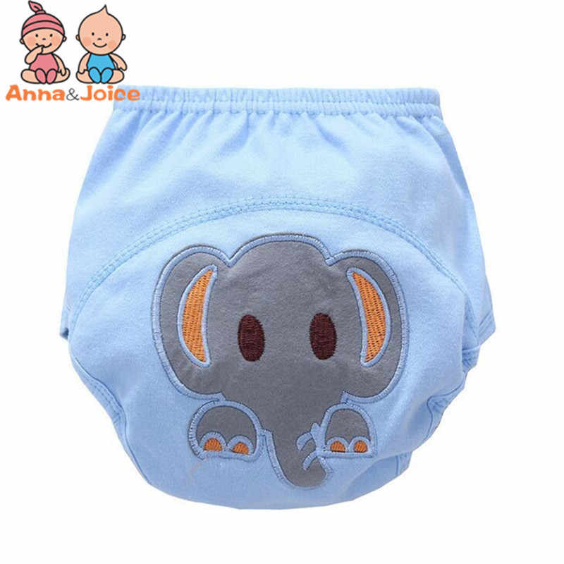 3 Pcs/lot Baby Washable Diapers Underwear/100% Cotton Breathable Diaper Cover/Training Pants B1trx0002