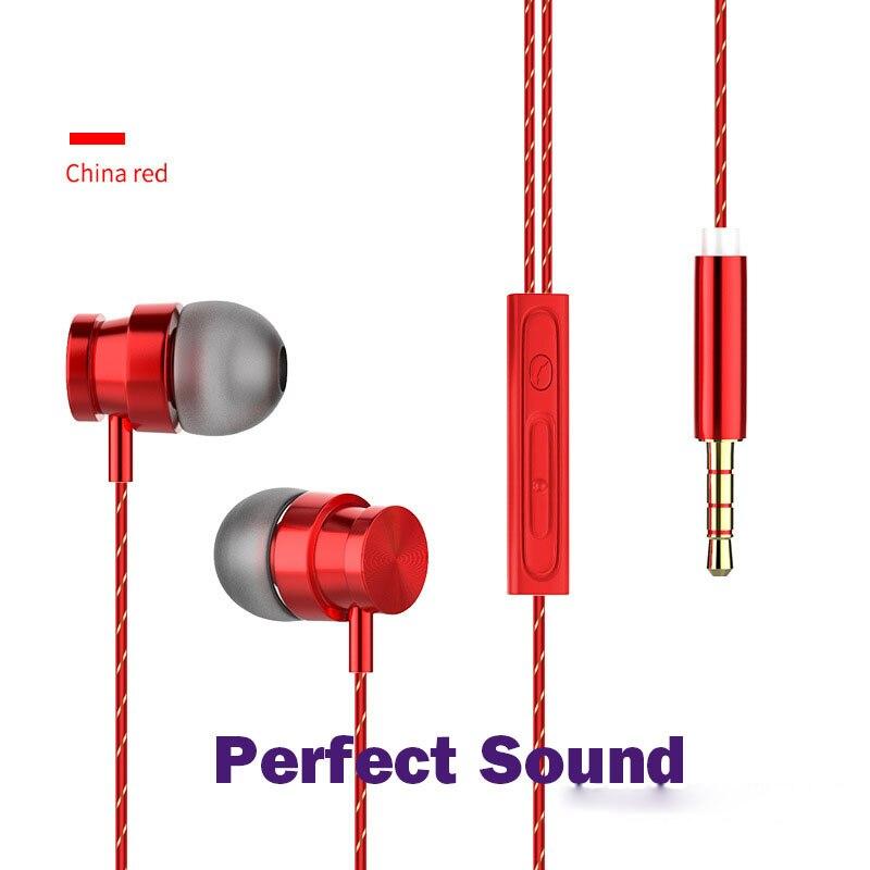 Creatief Zware Bas Metalen Magneet Oortelefoon 3.5mm Draad Headset Oordopjes In-ear Stereo Headset Oortelefoon Met Microfoon Fone De Ouvido Gediversifieerd In Verpakkingen