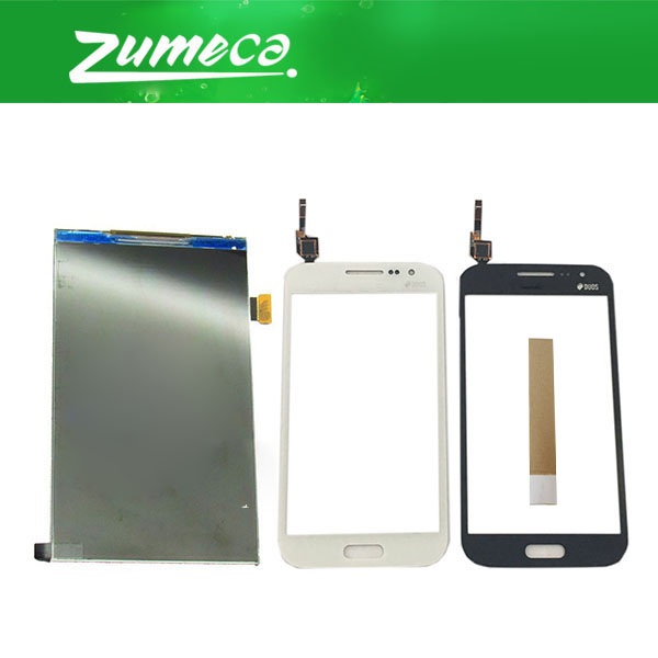 High Quality For <font><b>Samsung</b></font> <font><b>Galaxy</b></font> <font><b>Win</b></font> <font><b>i8550</b></font> GT-I8552 i8552 LCD Display Screen+Touch Screen Digitizer White Black Color With Tape image