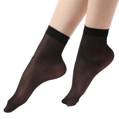 0073684e6 New 1 pair sexy fashion women s ankle socks girls black silk ultra-thin  transparent sox  8197