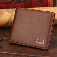 Dexbxuli PU Leather Wallet Business Style Ultra Thin Wallet Card Package New Men S Short Soft