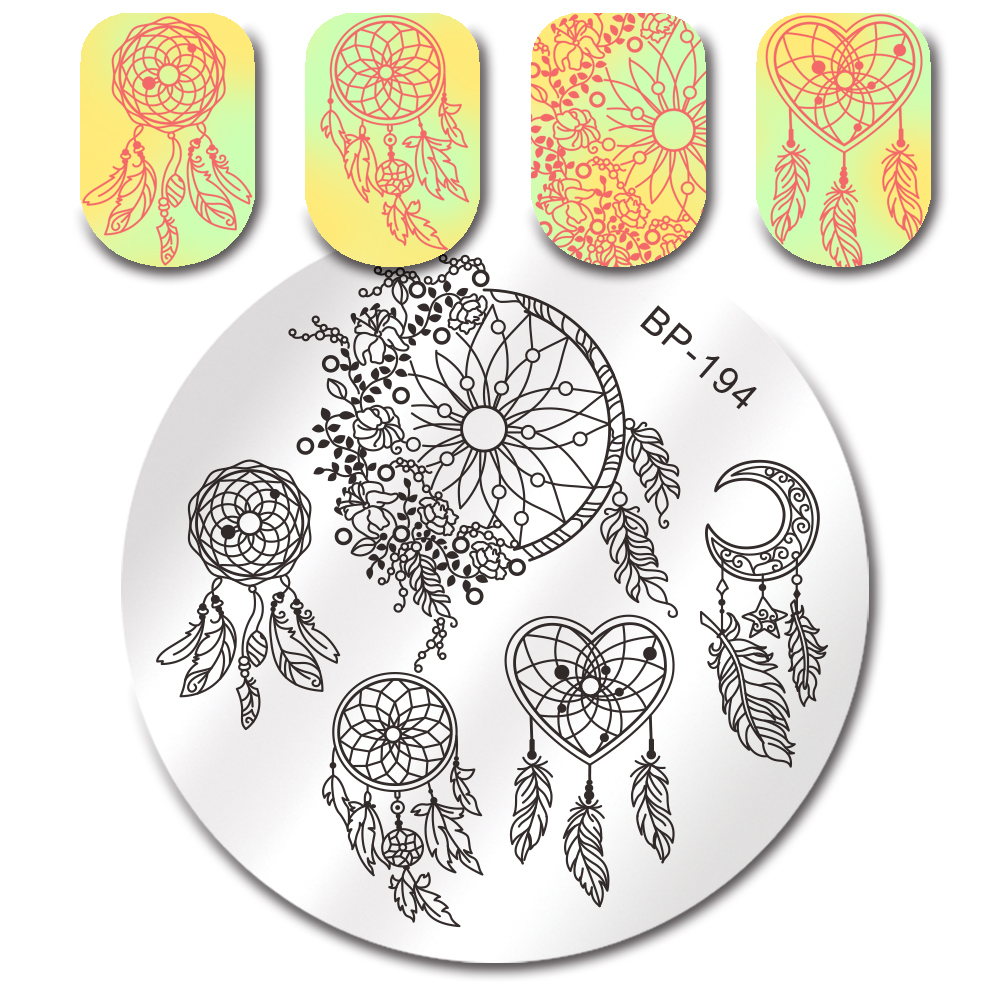 BORN PRETTY Nail Art Stamp Template Maple Turkey Pumpkin Dessert ...