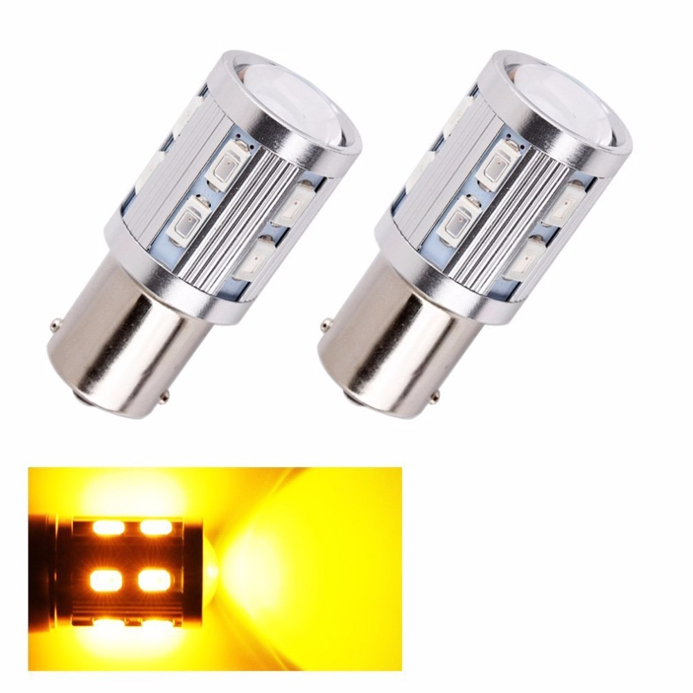 4Pcs Car 1156 BA15S Turn Reverse Signal Bulbs Samsung 5730 Chips Led High Power lamp p21w R5W Car LED bulbs rear brake Lights