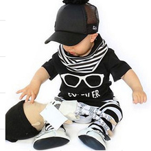 2016 New Arrivals Baby Girl Clothes Set Short Sleeve T Shirt + Pants Animal Pattern Baby Clothing Set Newborn Baby Costume Bebes
