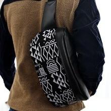 Fashion Unisex PU Leder Brusttasche Gürteltasche Gürteltasche Umhängetasche Handtasche Freizeit Stilvolle
