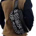 Moda Unissex Couro PU Peito Bag Bloco de Fanny Saco Bum Cintura Bolsa de Ombro Bolsa de Lazer Elegante