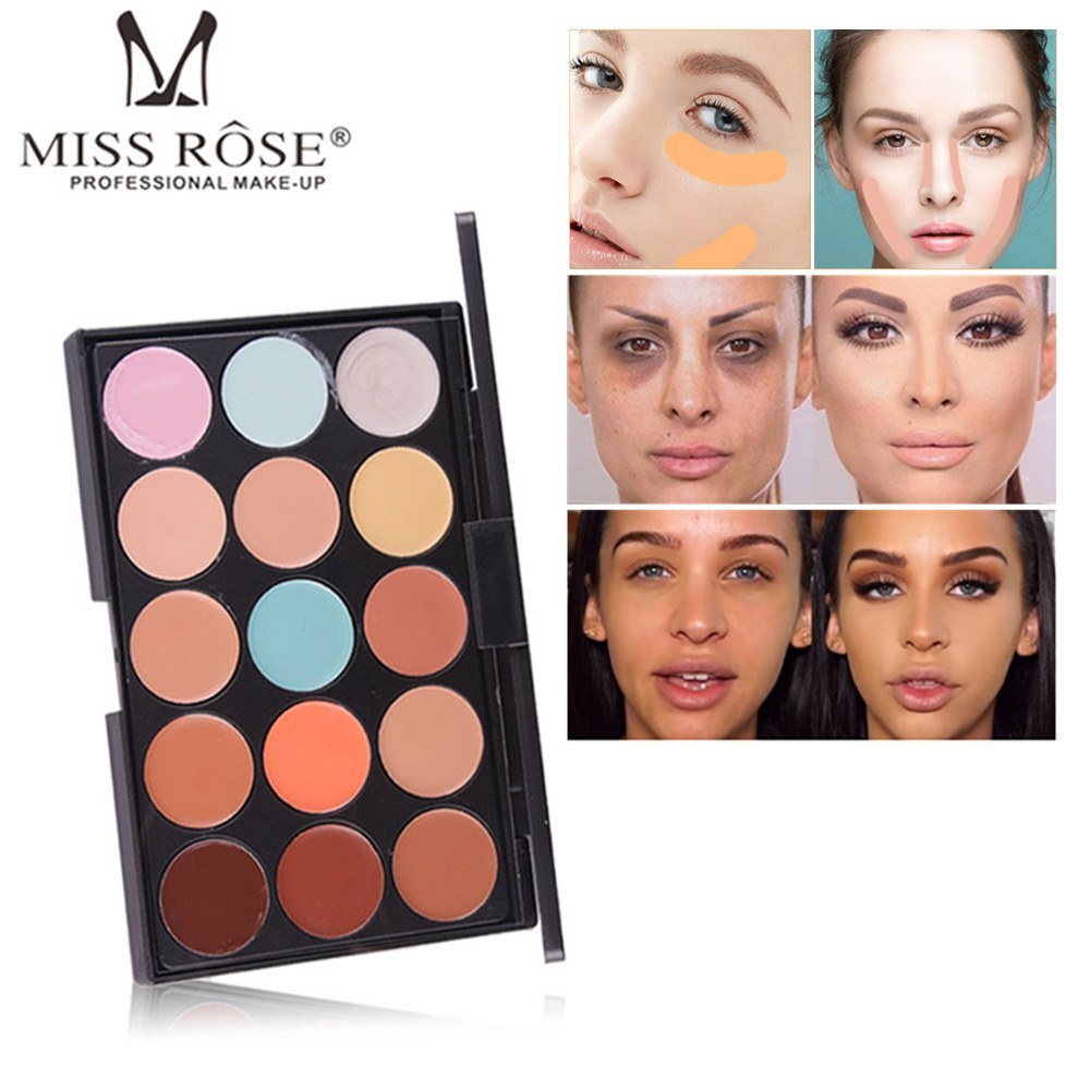 MISS ROSE Makeup Concealer Full Cover Face Foundation Cream Natural Brighten Contouring Cosmetics Women Beauty Face Base Makeup image