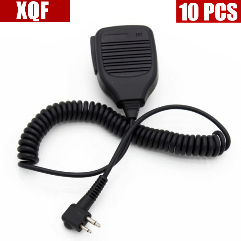 XQF 10PCS  Speaker Microphone Mic For Motorola GP300 GP68 GP88 GP88S HYT TC500 TC600 Radio