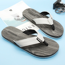 Gienig 2018 new mens outdoor slippers, the trend of simple and cold drag, comfortable beach shoes, personality men flip flops